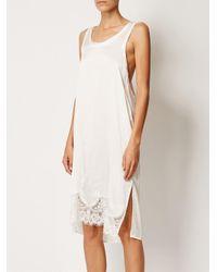 Faith Connexion - White Lace Hem Sleeveless Dress - Lyst