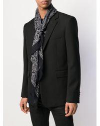 Foulard fin imprimé Saint Laurent pour homme en coloris Black