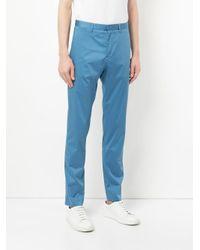 Cerruti 1881 - Blue Slim Fit Trousers for Men - Lyst