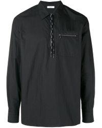 Valentino Black Zip Pocket Shirt for men
