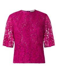 Martha Medeiros Pink Lace Blouse
