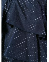 Erika Cavallini Semi Couture Blue Tiered Camisole