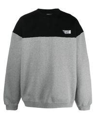 Vetements カラーブロック スウェットシャツ Gray