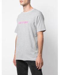 メンズ Stussy ロゴ Tシャツ Gray