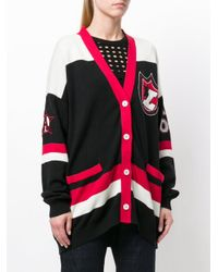 Laneus - Black Embroidered Patch Cardigan - Lyst