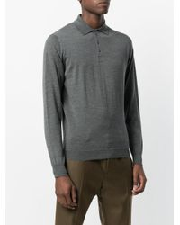 Drumohr - Gray Plain Polo Shirt for Men - Lyst