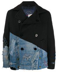 Abrigo con doble botonadura Greg Lauren de hombre de color Blue