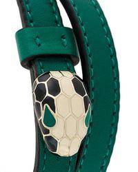 BVLGARI - Green Single Stone Bracelet - Lyst