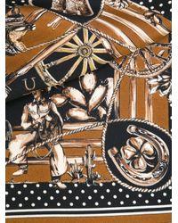 Dolce & Gabbana Black Western Print Scarf for men
