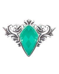 Stephen Webster Green 'superstud' Baroque Spike Crystal Haze Ring