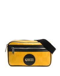 Поясная Сумка С Монограммой Gucci для него, цвет: Yellow