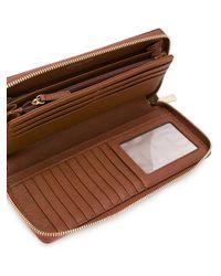MICHAEL Michael Kors Brown Zip Around Continental Wallet
