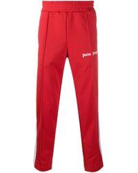 Palm Angels Jogginghose mit Seitenstreifen in Red für Herren