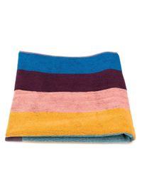 Пляжное Полотенце В Полоску Paul Smith для него, цвет: Blue