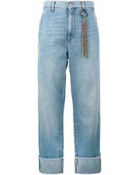Jean ample à ourlet retroussé MIRA MIKATI en coloris Blue