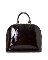 Louis Vuitton Purple Pre-owned Alma MM Handtasche