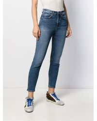 Haikure Blue High Rise Cropped Skinny Jeans