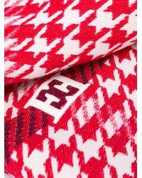 ESCADA ハウンドトゥース スカーフ Red