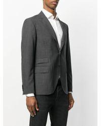 Mp Massimo Piombo - Gray Woven Blazer for Men - Lyst
