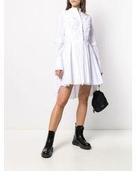 Alexander McQueen プリーツドレス White