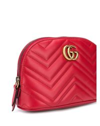 Estuche de maquillaje GG Marmont Gucci de color Red