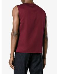 CALVIN KLEIN 205W39NYC Red Fold Flap Vest Top for men