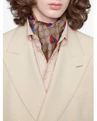 Écharpe à motif d'abeilles Gucci pour homme en coloris Multicolor