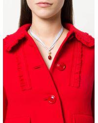 Miu Miu - Metallic Strawberry Pendent Necklace - Lyst