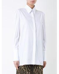 Ermanno Scervino White Concealed Fastening Shirt