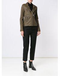 IRO - Green Biker Leather Jacket - Lyst