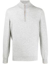 Кашемировый Джемпер На Молнии Brunello Cucinelli для него, цвет: Gray