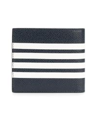 Thom Browne Blue Striped Billfold Wallet for men
