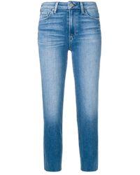 Jeans crop con orlo a vivo di PAIGE in Blue