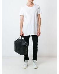 メンズ DIESEL スクープネック Tシャツ White