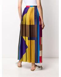 Плиссированная Юбка В Стиле Колор-блок Pierre Louis Mascia, цвет: Multicolor