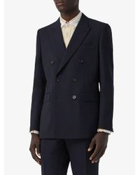 Blazer à boutonnière croisée Burberry pour homme en coloris Blue