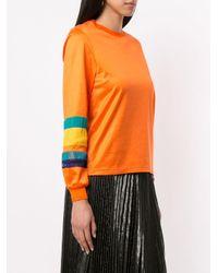 Kolor ストライプ スウェットシャツ Orange