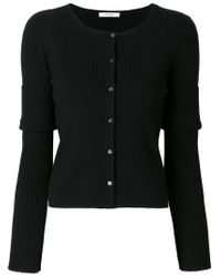 Dorothee Schumacher Black Fitted Knitted Cardigan
