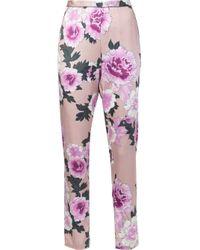 Fleur du Mal フローラル柄 パジャマパンツ Pink
