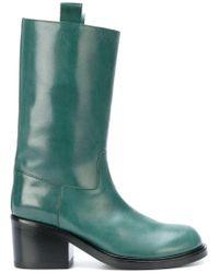 A.F.Vandevorst Green Heeled Boots