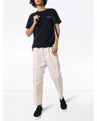 メンズ Thom Browne サイドボタン Tシャツ Blue