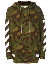 Off-White c/o Virgil Abloh | Green Camouflage Arrows Hoodie for Men | Lyst