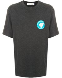 Undercover Gray Graphic-print Crew Neck T-shirt for men