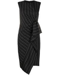 Платье В Тонкую Полоску Pinko, цвет: Black