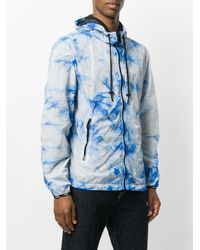 DIESEL - Blue Tie Dye Zipped Hoodie for Men - Lyst