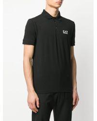 メンズ EA7 ロゴ ポロシャツ Black