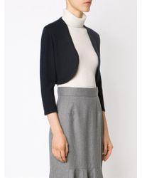 Oscar de la Renta - Blue - Knitted Bolero - Women - Silk/cashmere - M - Lyst