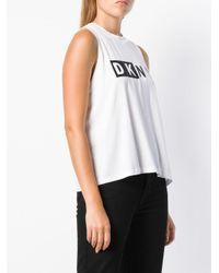 Débardeur à logo Donna Karan en coloris White