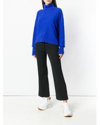 Maison Margiela Blue Loose Knit Sweater
