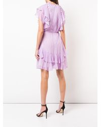 Lela Rose Pink Plaid Ruffle Trim Dress